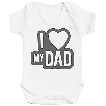 I Love My Dad Black Outline Baby Bodysuit