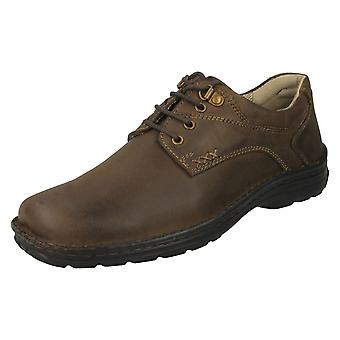 Mens Hush Puppies Lace Up Casual Shoes Geography Lace