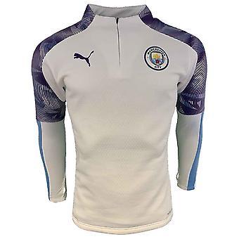 2019-2020 Manchester City Puma training fleece (wit)