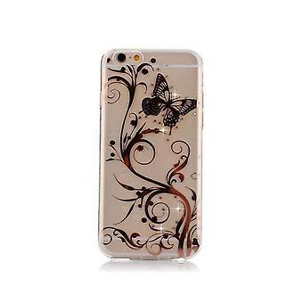 Coque Pour Iphone 6 Plus Motif Papillons Et Fleurs
