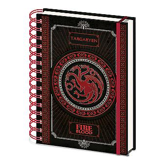 Game of Thrones Notebook House Targaryen Crest new Official A5 Wiro