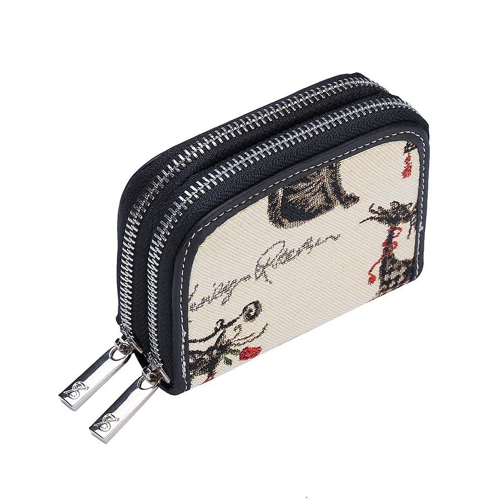 Catitude double-zip rfid money purse by signare tapestry / dzip-cude