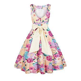 Collectif Vintage Women's Margaret English Garden Floral Swing Dress