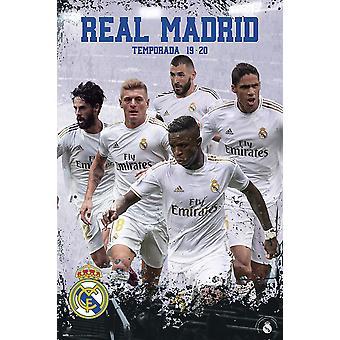 Real Madrid affiche saison 2019/20 Isco, Kroos, Benzema, Varane et Rodrygo