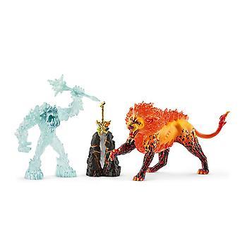 Schleich Eldrador Battle for the Superweapon Frost Monster vs Fire Lion Toy
