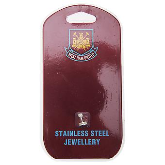 West Ham FC Official Stainless Steel Football Crest Stud Earring