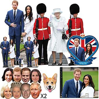 Royal Wedding 2018 Prince Harry & Meghan Markle Découpe / Standee & Mask Platinum Package