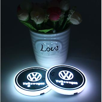 2X Volkswagen Led bottom plate to cup holder