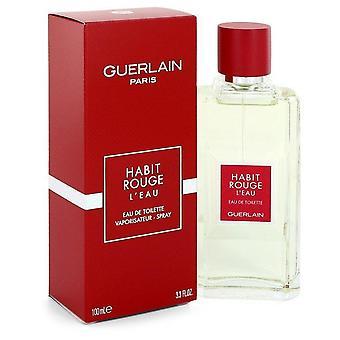 Habit rouge l'eau eau de toilette spray von guerlain 526540 100 ml
