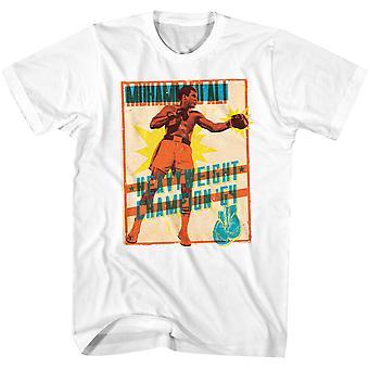 Amerikanische Klassiker Muhammad Ali hell Poster T-Shirt - weiß