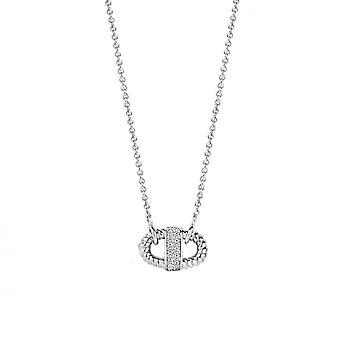 Necklace Ti Sento 3910ZI - e silver carabiner are and Pav bar necklace