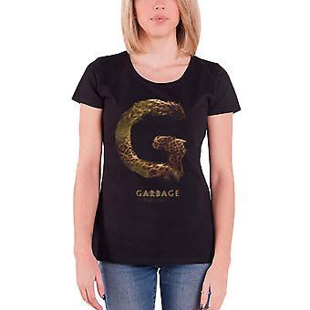 Garbage T Shirt Strange Little Birds Album Band logo Official Womens Skinny Fit