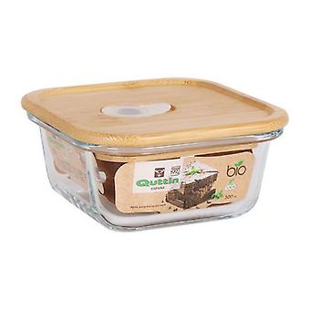 Square Madpakke med lid Quttin Crystal Bamboo/550 cc