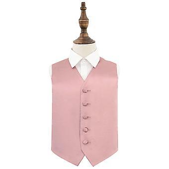 Dusty Pink Plain Satin Hochzeit Weste für Jungen