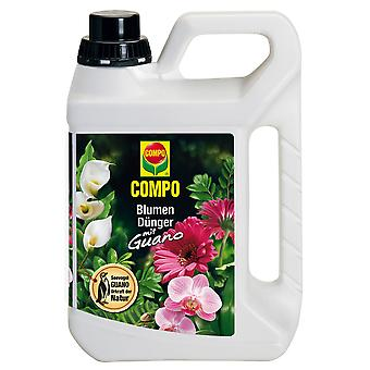 COMPO Flower fertilizer with guano, 2.5 litres