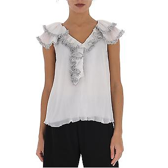 See By Chloé Chs20sht02023101 Women's White Polyester Top