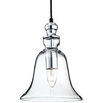 Firstlight Delicate Antique Chrome Ceiling Glass Pendant Light