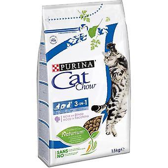 Cat Chow Feline 3 in 1 Rich in Turkey (Cats , Cat Food , Dry Food)