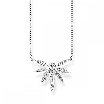 Thomas Sabo Magic Garden Silver & White Zirconia Leaves Necklace