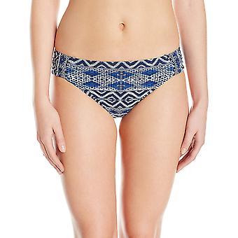 La Blanca Women's Side Shirred Hipster Bikini Swimsuit Bottom,, Blue, Size 14.0