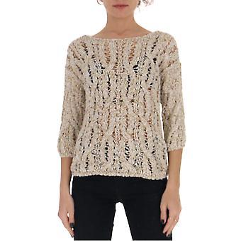 Gentry Portofino D621ssg1102 Women's White Cotton Sweater