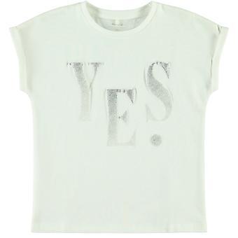 Name-it Meisjes Witte Tshirt Flori (Yes)
