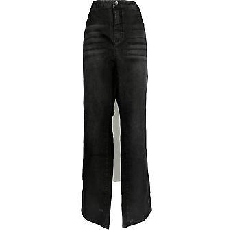 Femmes avec contrôle Femmes-apos;s Plus Jeans Tall Denim Boot Cut Black A346946
