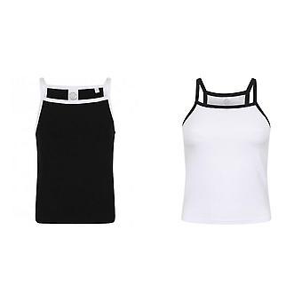 Skinni Fit Womens/dames voelen goed Contrast Strappy Vest