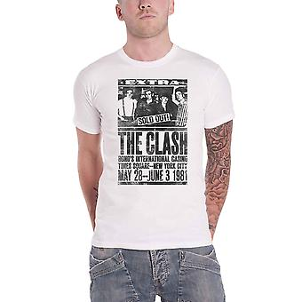 The Clash T Shirt Live Bonds 1981 Band Logo new Official Mens White