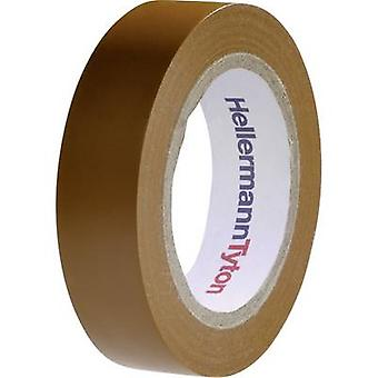 HellermannTyton HelaTape Flex 15 710-00107 Electrical tape HelaTape Flex 15 Brown (L x W) 10 m x 15 mm 1 pc(s)