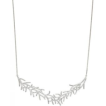 Joshua James Motive Silver Statement Coral Necklace