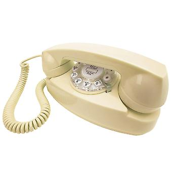 Wild & Wolf Princess Cream Retro Push Button Telephone