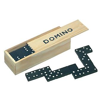 Domino game 28 pieces in wooden box