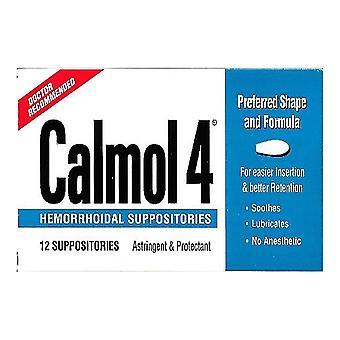 Calmol 4 suppsitoriile hemoroidale, 12 ea