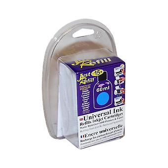 Just Refill 60ml Cyan Universal Refill Ink (English / French)