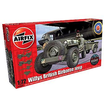 Airfix A02339 1:72 Willys British Airborne Jeep Modello Kit