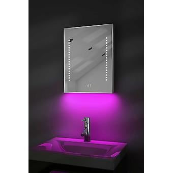 Reloj delgado espejo con UnderLighting, Bluetooth&Sensor k188aud