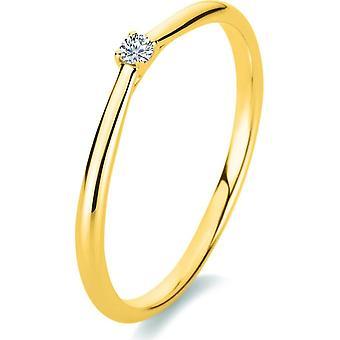 خاتم الماس - 18K 750/- الذهب الأصفر - 0.05 قيراط. - 1A286G853 - عرض الحلقة: 53