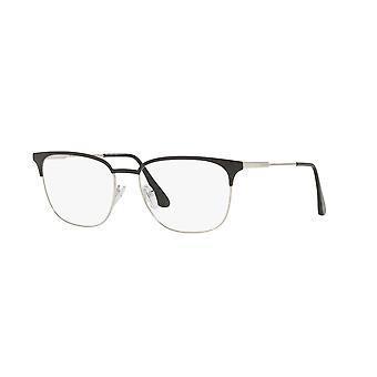 Prada VPR59U 1BO1O1 Matte Black-Silver Glasses
