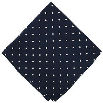 Eingewandt London Polka Dot Seide Taschentuch - Marineblau