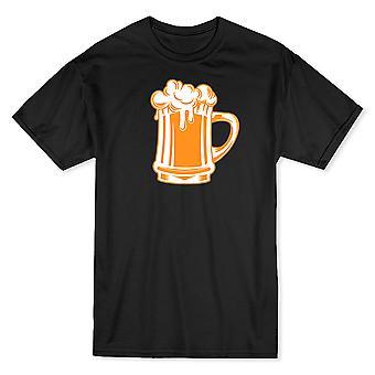 Gyllene gul burk skummande öl grafisk mäns T-shirt