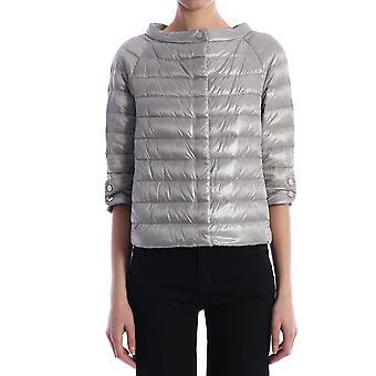 Herno Pi0613dic120179408 Women's Grey Nylon Outerwear Jacket