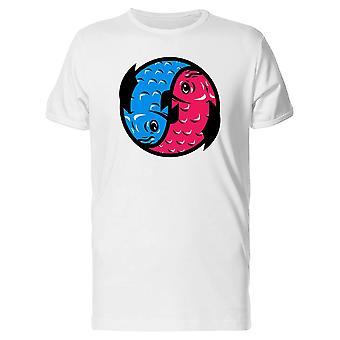 Blau rosa Koi Fische T-Shirt Herren-Bild von Shutterstock