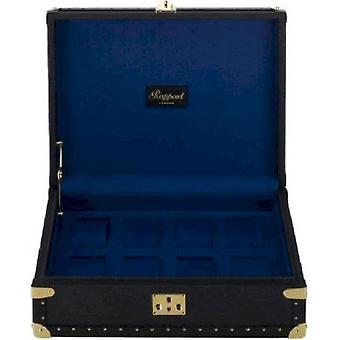 Rapport London Watch Box Navy Blue Classic Eight L315