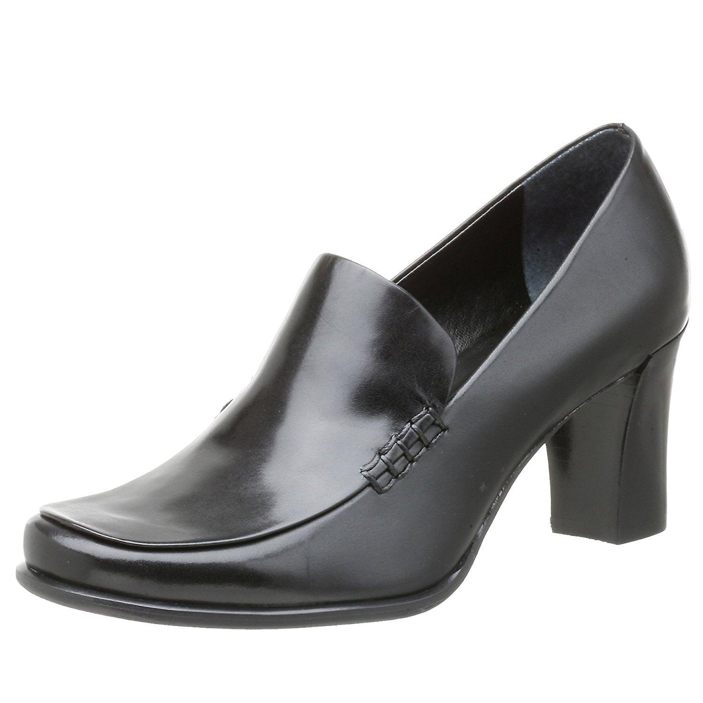 Franco Sarto Womens NOLAN Leather Round Toe Platform Pumps