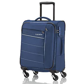 travelite kite handbagage Trolley S, 4 hjul, 54 cm, 36 L, blå