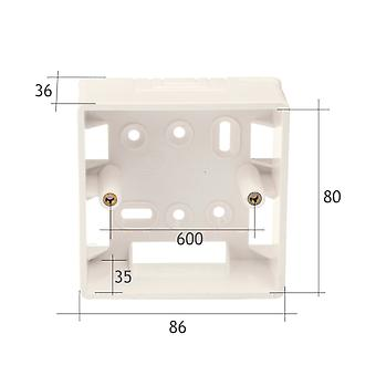 Jandei Surface Box für 86* 86 mm PVC beig klar Mechanismen