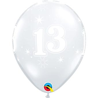 Qualatex 11 Inch Diamond duidelijk 13 Sparkle rond Latex ballon (Pack van 25)