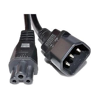 Iec C14 To C5 Power Cord Black