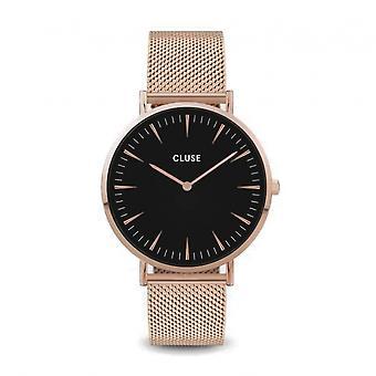 Cluse CW0101201003 La Boheme Rose Gold Tone Mesh Wristwatch